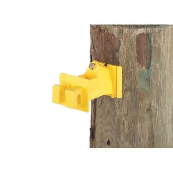 Dare SNUG-SWP-25 Snug Wood Post Insulator, Yellow, 25-Count