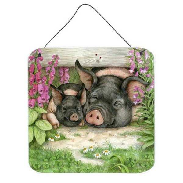 Pigs Under the Fence by Debbie Cook Wall or Door Hanging Prints