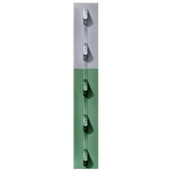 FRPT13300066G2N 1.33 in. x 6 ft. 6 in. Green Studded T-Post, Pac