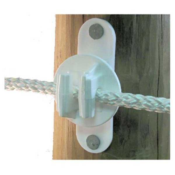 SNUG HTW Wood Or Vinyl Post Insulator, Equine White, 25 Piece