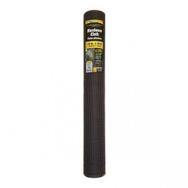 YardGard 889231A Plastic Hardware Cloth Roll, Black, 1/2' Mesh, 24' x 25'