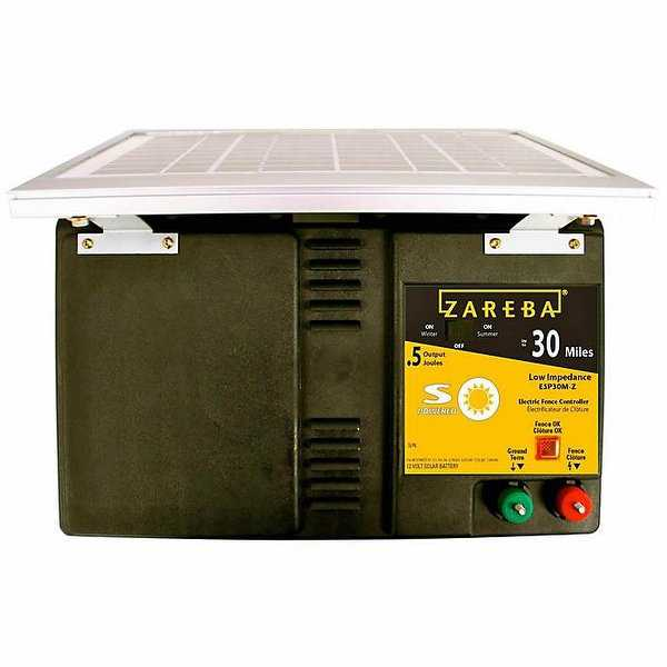 Zareba ESP30M-Z Solar Powered Low Impedance Charger, 12-Volt, 30 Mile